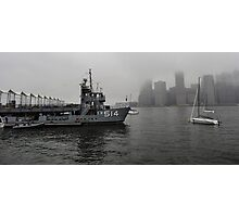 misty water front Photographic Print