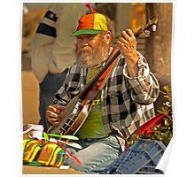 San Francisco Street Musician with Banjo  Poster