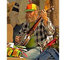 San Francisco Street Musician with Banjo  Photographic Print