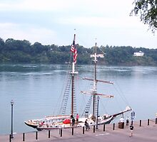 The Black Pearl at Lewiston Dock by Ray Vaughan