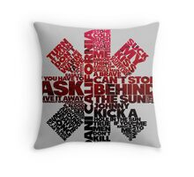 Red Hot Chilli Peppers Typography  Throw Pillow