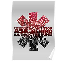Red Hot Chilli Peppers Typography  Poster