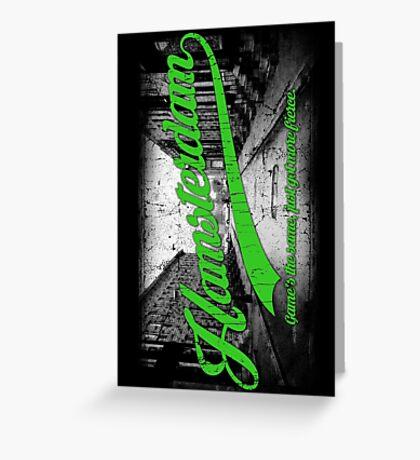 Hamsterdam - Cloud Nine Edition (Green) Greeting Card