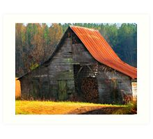 Charming Rural Barn Art Print