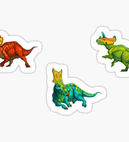 dinos all over - ceratopsians Sticker