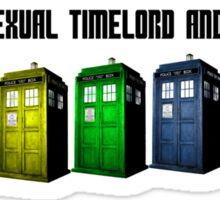Homosexual Timelord and Proud Sticker