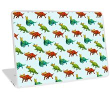 dinos all over - ceratopsians Laptop Skin
