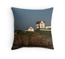 Nubble Lighthouse, Cape Neddick ME Throw Pillow
