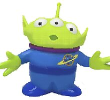 Pixel Alien from Toy Story  by Katie Lou