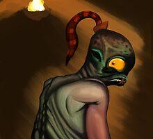 Abe in the Dark by evilkairyu