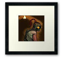 Abe in the Dark Framed Print