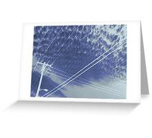 Electrifying sky scene Greeting Card