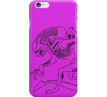 Xenomorph Sketch-black & purple iPhone Case/Skin