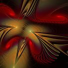 Movement Of Red And Gold by Deborah  Benoit