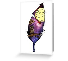 Galaxy Owl Greeting Card