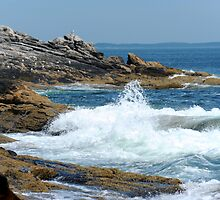 Surf at Booth Bay Harbor Maine by Craig France