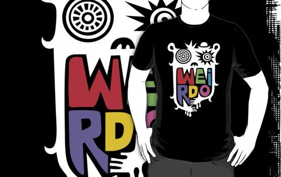Big Weirdo - on black by Andi Bird