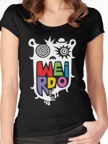 Big Weirdo - on black Women's Fitted Scoop T-Shirt