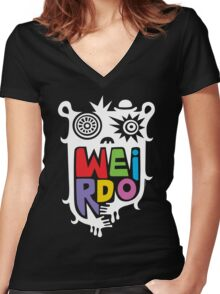 Big Weirdo - on black Women's Fitted V-Neck T-Shirt