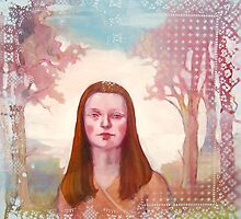 isabel with blue sky and clouds by Rachel  Aponte