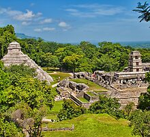 Palenque. View from the Temple of the Cross. by vadim19
