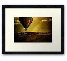 Rainbow Balloon Framed Print