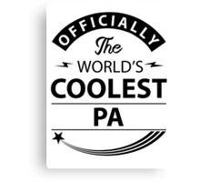 The World's Coolest Pa Canvas Print