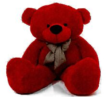 Teddy - Red Photographic Print
