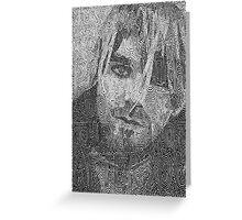 Kurt Cobain - 'Just because you're paranoid' Greeting Card