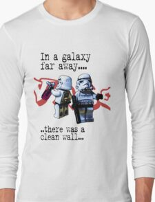 In a galaxy..there was a clean wall by #fftw Long Sleeve T-Shirt