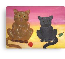 The Kitties and Their Toys Canvas Print