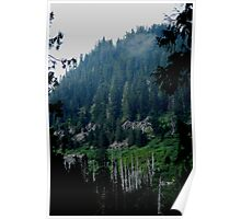 EARLY MORNING IN THE CASCADE MOUNTAIN RANGE Poster