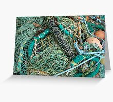 Net Abstraction Greeting Card