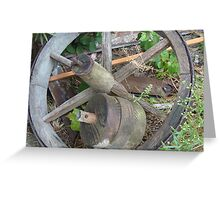 Wagon Wheel in the East  Greeting Card