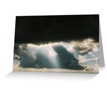 Rays of Light Through Dark Clouds Greeting Card
