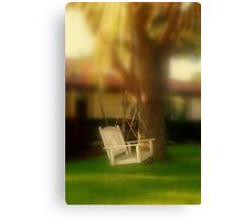 Swing with me Canvas Print