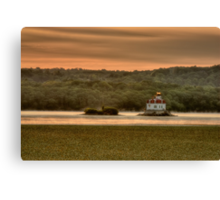 Sunrise over the Esopus Meadows Lighthouse Canvas Print