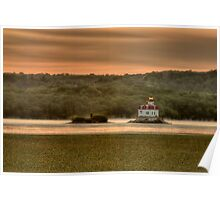 Sunrise over the Esopus Meadows Lighthouse Poster