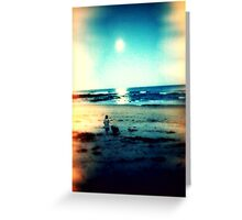Twilight Beach Greeting Card