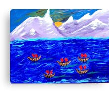 The Voyage Acrylic Painting Canvas Print