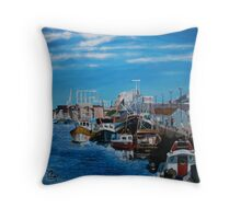 Plymouth Harbour Throw Pillow