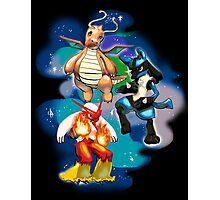 Dragonite, Lucario, Blaziken Photographic Print