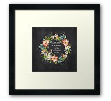 Color in a Picture Quote Framed Print