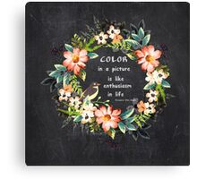 Color in a Picture Quote Canvas Print