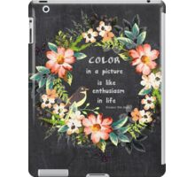 Color in a Picture Quote iPad Case/Skin