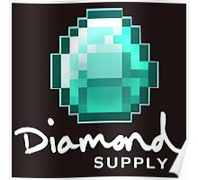 Diamond Supply Minecraft Diamond Poster