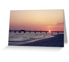 Catch the last golden light Greeting Card