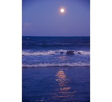 Full Moon over the Ocean Photographic Print