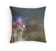 Fourth of July sunset Throw Pillow