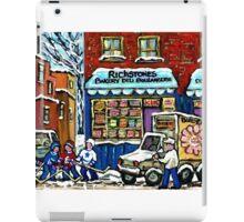VINTAGE MONTREAL BAKERY RICHSTONE BAKERY AND HOCKEY iPad Case/Skin